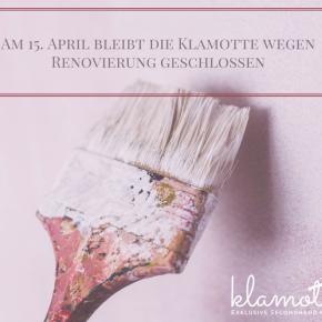 15. April: Wegen Renovierunggeschlossen