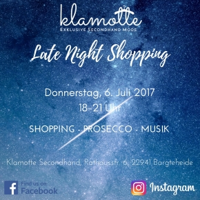 Late Night Shopping in der Klamotte in Bargteheide am 6.Juli